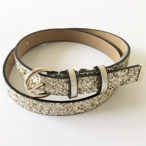 NWT Kate Spade New York Glitter Sparkle Belt Sz S